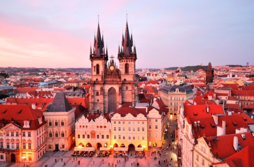 The center of prague city