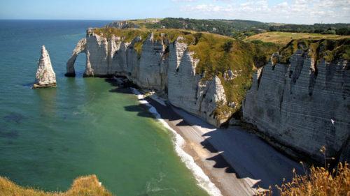 Etretat cliffs france