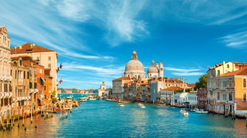 Amazing view of grand canal italy