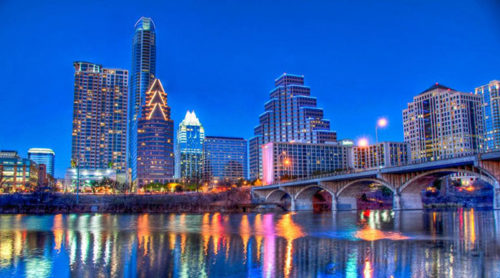 Austin scenery in night