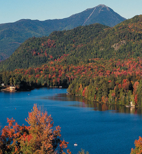 Beautiful lake at lake placid