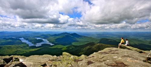 Climb at lake placid enjoy the panorama