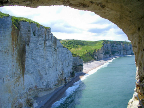 Come closer to etretat cliffs