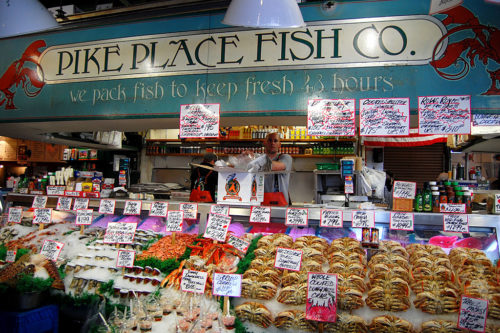Inside the pike place market