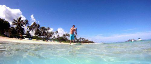 Kailua beach surfing