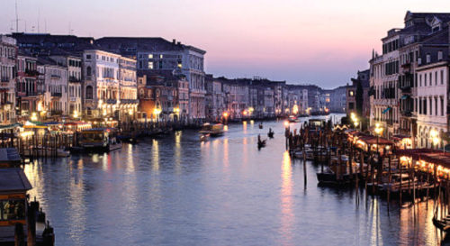 Nightlife at grand canal italy