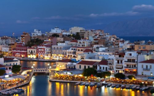 Crete nightlife scenery