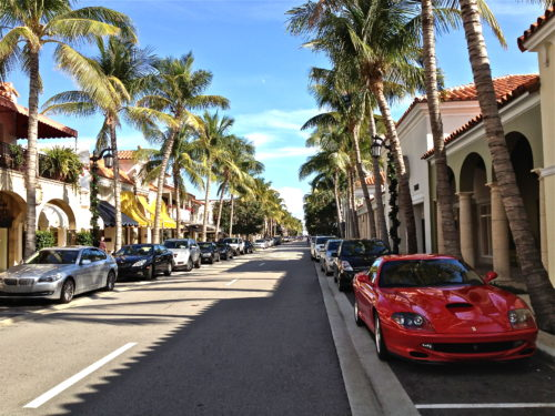 Luxury cars around palm beach florida