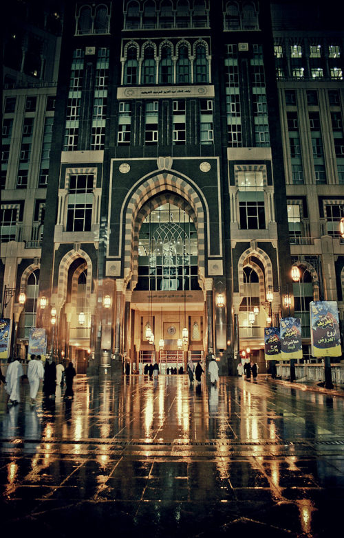 Abraj al bait in night