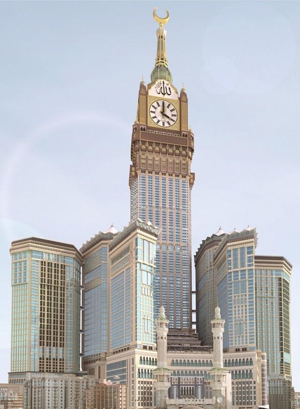 the abraj al bait tower in makkah saudi arabia gets ready