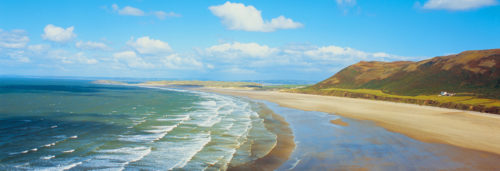 Best scenery at rhossili bay
