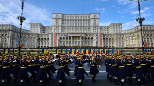National ceremony at romania palace